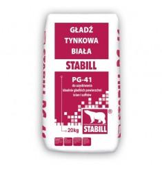 Stabill PG-41 gładź tynkowa biała 20 kg